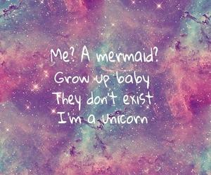 unicorn, mermaid, and quotes image