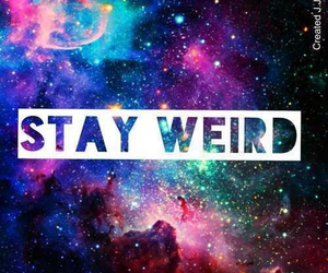 galaxy, weird, and stay weird image