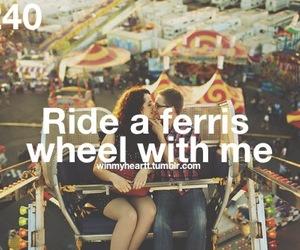 couple, ferris wheel, and love image