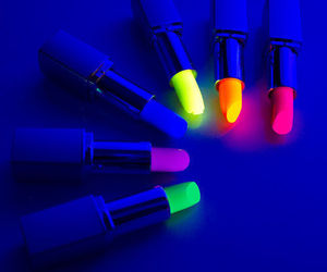 lipstick, neon, and colors image
