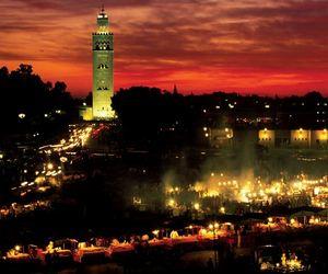 lights, marokko, and marrakech image