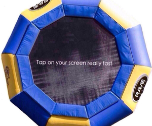 trampoline, fun, and funny image