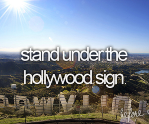 hollywood, before i die, and bucket list image