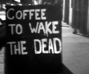 coffee, dead, and black and white image