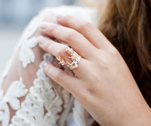 fashion, ring, and lace image