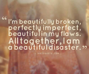 quote, beautiful, and flaws image