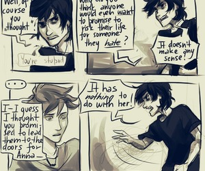 percy jackson, nico di angelo, and viria image
