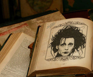 edward scissorhands, book, and johnny depp image