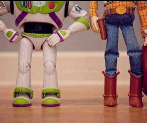 andy, buzz lightyear, and toy story image