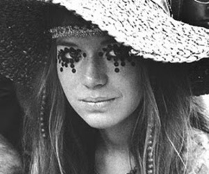 black and white, hippie, and hippie girl image