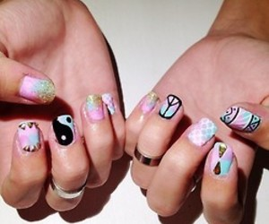 art, peace&love, and nails image