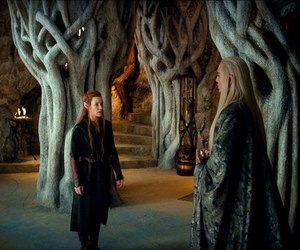 the hobbit, tauriel, and tranduil image
