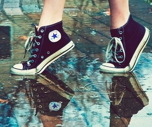 converse, shoes, and rain image
