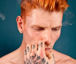 ginger, redhead, and tattoo image