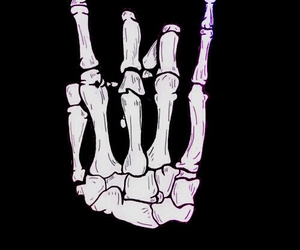 rock, skeleton, and hand image