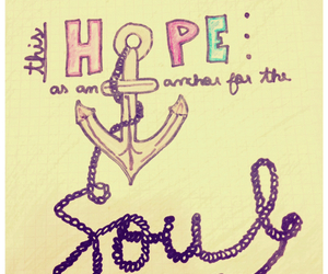 anchor, drawing, and hope image