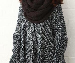 clothes, scarf, and sweater image