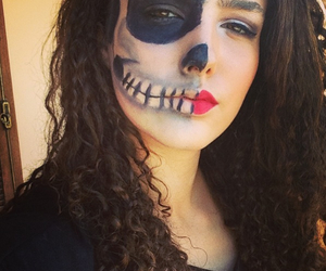 curly, girl, and Halloween image