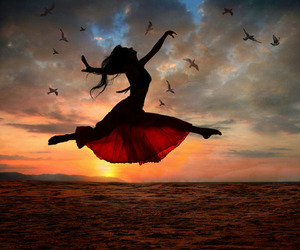 dancing, dress, and pretty image