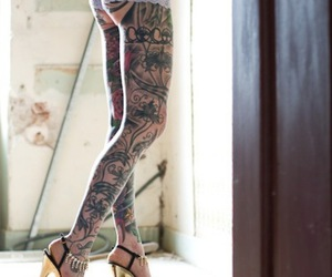 tattoo, legs, and sexy image