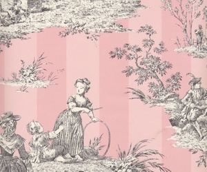 lady, pink, and vintage image
