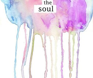 drips, water colour, and capture the soul image