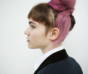 girl, pink hair, and grimes image