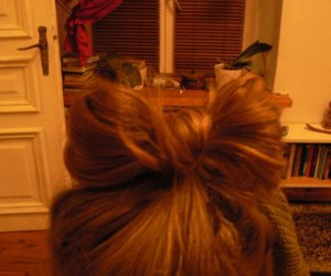 bow, hair, and hair bow image