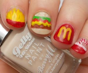 nails hamburger soda image