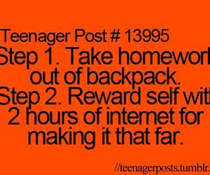 homework, internet, and teenager post image