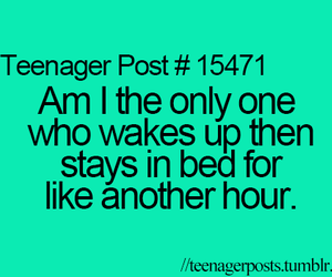 bed and teenager post image