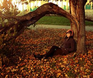 autumn, boots, and scene image
