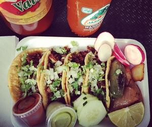 food, delicious, and tacos image