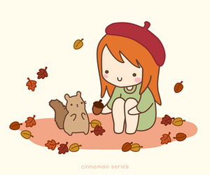 drawing, squirrel, and cute image