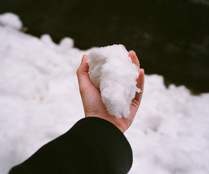 snow, cold, and hand image