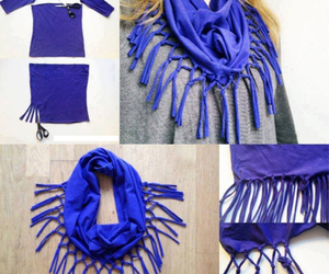 diy, scarf, and blue image