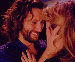 desmond hume, lost, and penelope widmore image