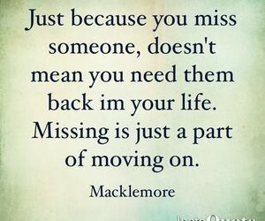 quote, life, and moving on image