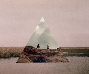 hipster, vintage, and triangle image