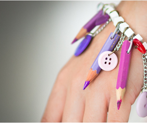 bracelet, girly, and fashion image