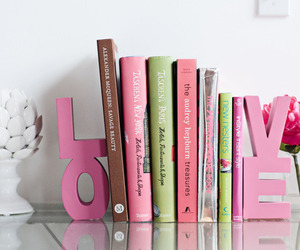books, cute, and pink image