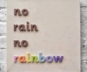 quote, rain, and rainbow image