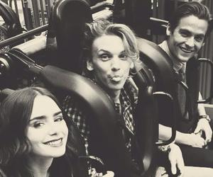Jamie Campbell Bower, lily collins, and Kevin Zegers image