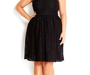 beautiful, little black dress, and plus size image
