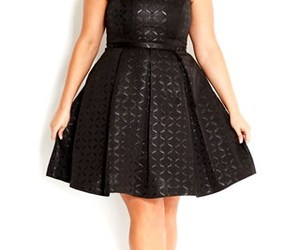 curvy, little black dress, and plus size image