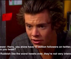 tweet, twitter, and Harry Styles image