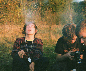 boy, smoke, and friends image
