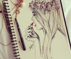 flowers, hair, and inspiration image