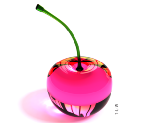 pink, cherry, and pink cherry image