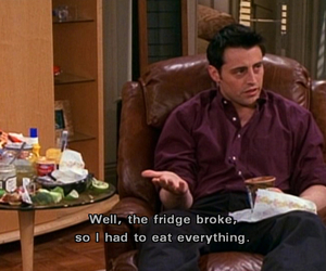 friends, food, and Joey image